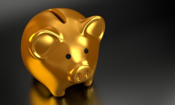 gold piggy bank