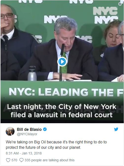 NYC twitter post