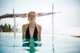 sustainability. clean water bikini